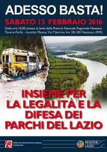 ADESSO BASTA! Insieme per la legalità e la difesa dei Parchi del Lazio
