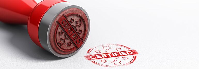 timbro di certificazione - auteniticità